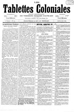 Le protectorat français dans les îles Tubuai (1889)