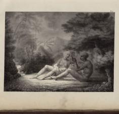 Noukahivien qui se fait tatouer – Atlas de Krusenstern (1821)