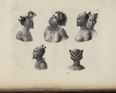 Portraits de Marquisiens de Nuku Hiva – Atlas de Krusenstern (1821)