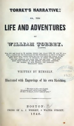 The life and adventures of William Torrey, who … was held a captive by the cannibals of the Marquesas (1848)