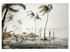 Vue de l'île de Tahiti (1773)