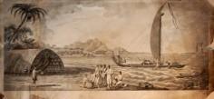 Scène de vie sur une rive de Raiatea (1773)