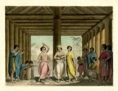 Une danse de Raiatea ( début XIXème siècle)