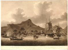 Vue de Huahine l'une des îles de la Société (1788)