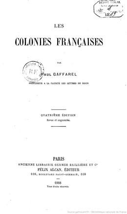 Les colonies française – L'Océanie française (1888)