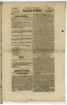Messager de Tahiti – 3 juillet 1853
