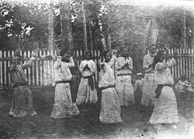 Répétition de upa upa à Papeete (1892)
