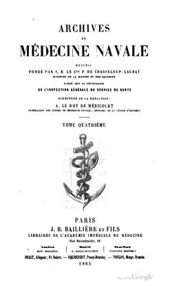 Contribution à la géographie médicale – Archipels des îles de la société et des Marquises (1865)