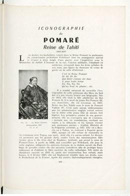 Iconographie de Pomaré – Reine de Tahiti (1963)