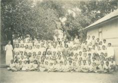 Classe de l'école protestante de Raiatea