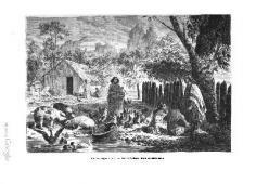 Une case indigène à Tahiti (1876)