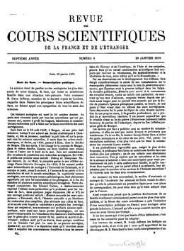 Soirée scientifique de la Sorbonne – Taïti (1870)