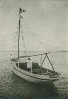 """Le """"Maranatha"""", bateau missionnaire des îles Sous-le-Vent à Bora-Bora (1924)"""