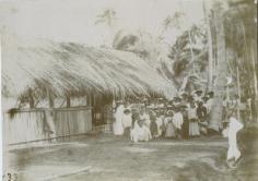 Le temple de Poutoru, sur l'île de Tahaa (1910)