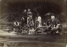 Une halte au retour d'une excursion à Fautaua (1900)