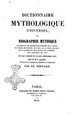 Dictionnaire mythologique universel (1854)