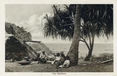 Case tahitienne en bord de mer