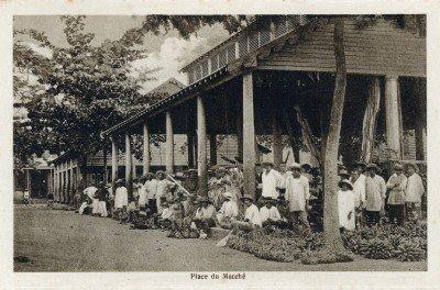 Place du marché à Papeete