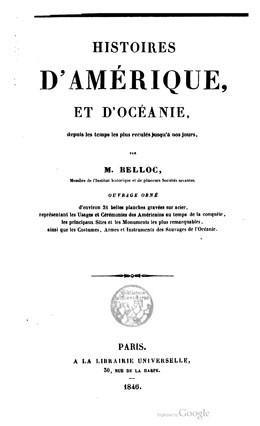 Histoires d'Amérique et d'Océanie (1846)