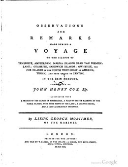 Observations and remarks made during a voyage to islands of Otaheite (1791)