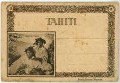 Dépliant de cartes postales Nini & Taitua – Rivière de Tautira
