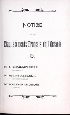 Notice sur les établissements français de l'Océanie (1900)