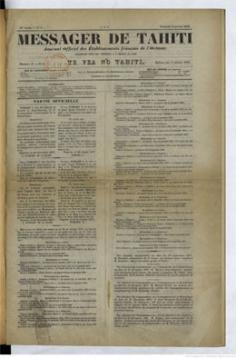 Messager de Tahiti / Te vea no Tahiti du 4 janvier 1878