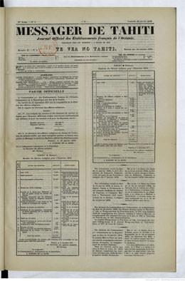 Messager de Tahiti / Te vea no Tahiti du 18 janvier 1878