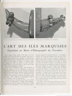 L'art des îles Marquises (1934)