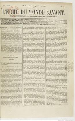 Archipel de Mangareva – Partie I (1844)