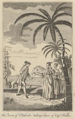 La reine de Tahiti prenant congés du capitaine Wallis