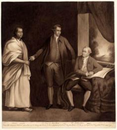 Sir Joseph Banks avec Omai et Dr Daniel Solander (1838)
