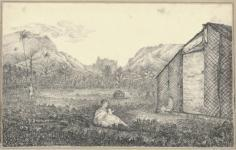 Vue de Outoutounoa avec la maison de Bicknell (1822)