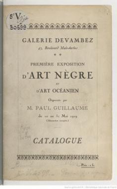 Première exposition d'Art Nègre et d'Art Océanien (1919)