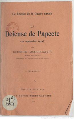 La défense de Papeete le 22 septembre 1914 (1915)