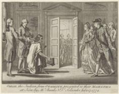 Omai présenté au roi d'Angleterre (1774)