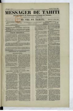 Messager de Tahiti du 1er février 1878
