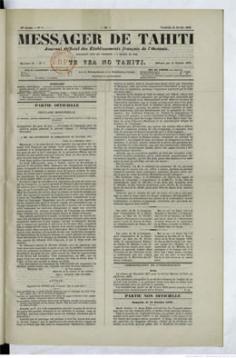 Messager de Tahiti du 15 février 1878