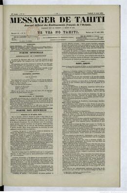 Messager de Tahiti du 15 mars 1878