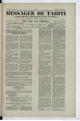 Messager de Tahiti du 22 mars 1878