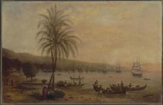 Port de Papeete sur l'île de Tahiti (1846)