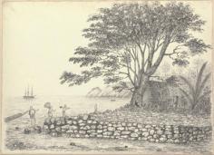 Marae et dieux à Resolution Bay – Marquises (1822)