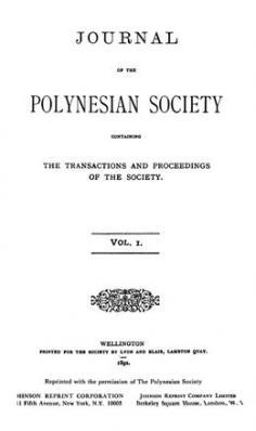 The journal of the Polynesian Society – Vol. I (1892)