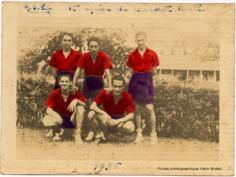 Première équipe de basket  de l'école centrale (1936)