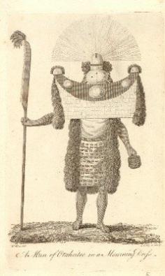 Homme de Tahiti en costume de deuilleur (1785)