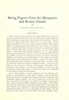 String figures from the Marquesas and Society islands (1925)