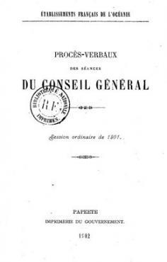 Procès-verbaux des séances du Conseil Général (1902)