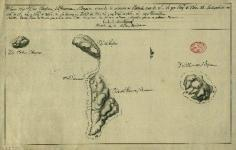 Carte nautique de Bora Bora, Raiatea, Tahaa et Huahine (1772)