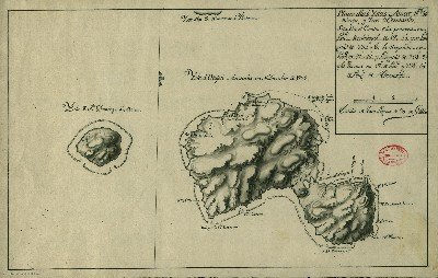 Carte nautique de Tahiti & Moorea (1772)