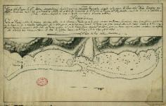Carte nautique du port de Santa Maria Magdalena à Tahiti (1772)